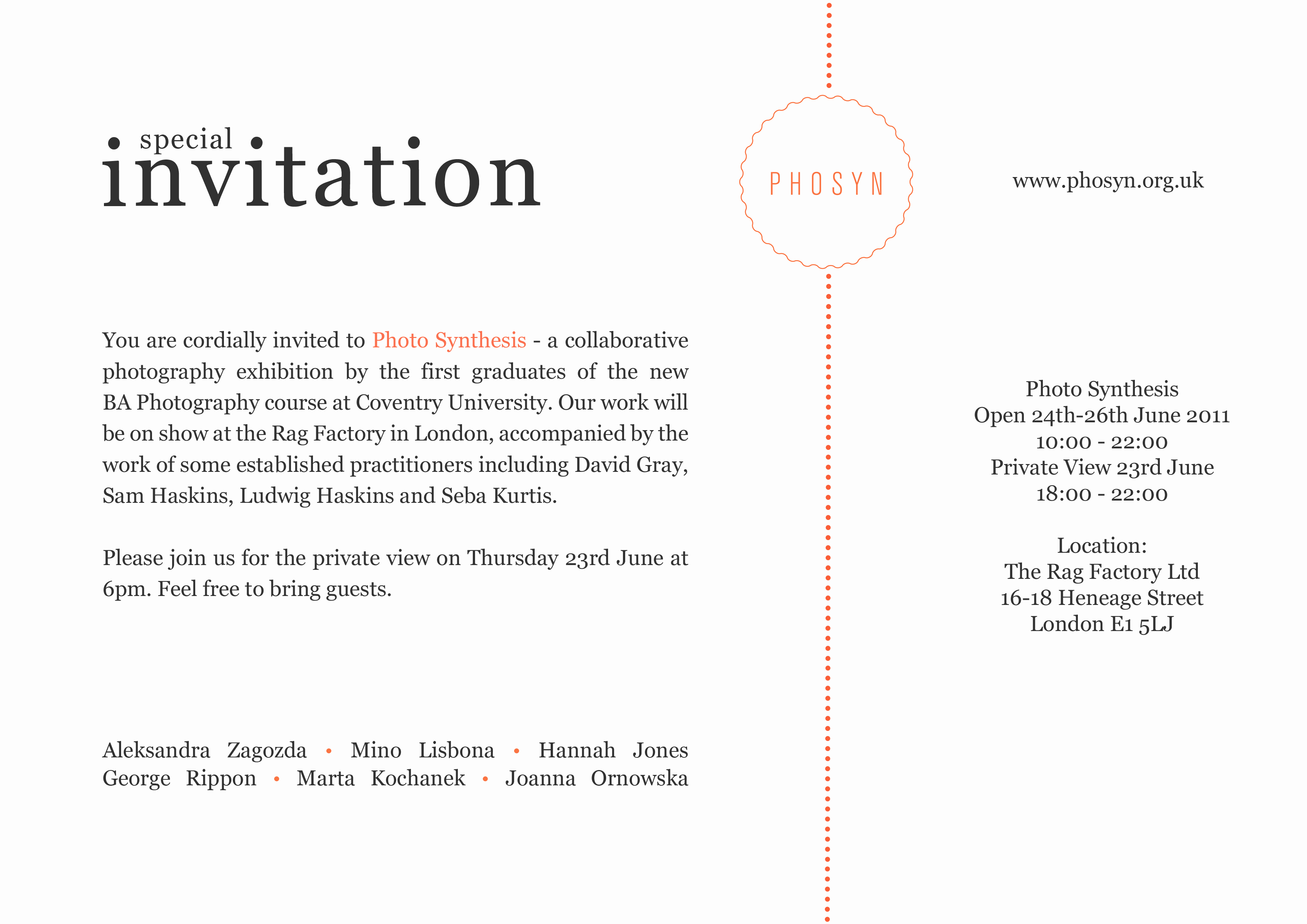 Art Show Invitation Wording Lovely Synthesis