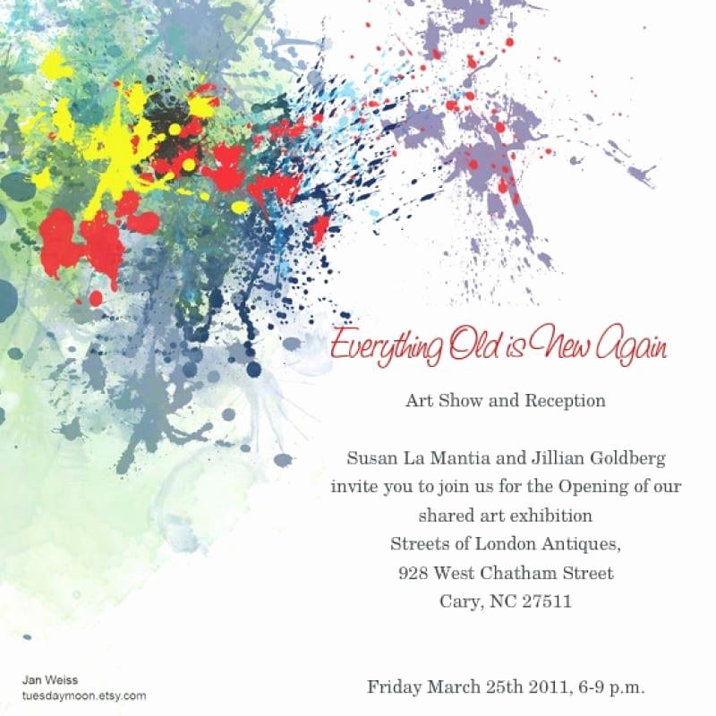 Art Show Invitation Wording New Art Show Invitation Sample