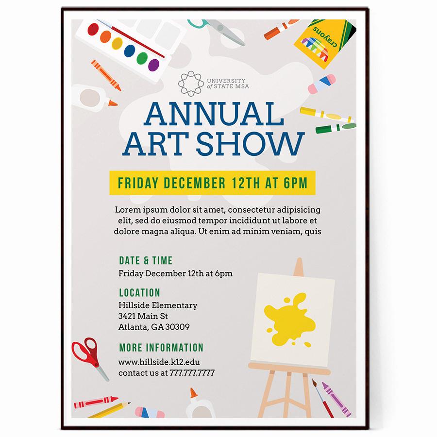 Art Show Invitation Wording New School Art Show Flyer Template Psd Docx