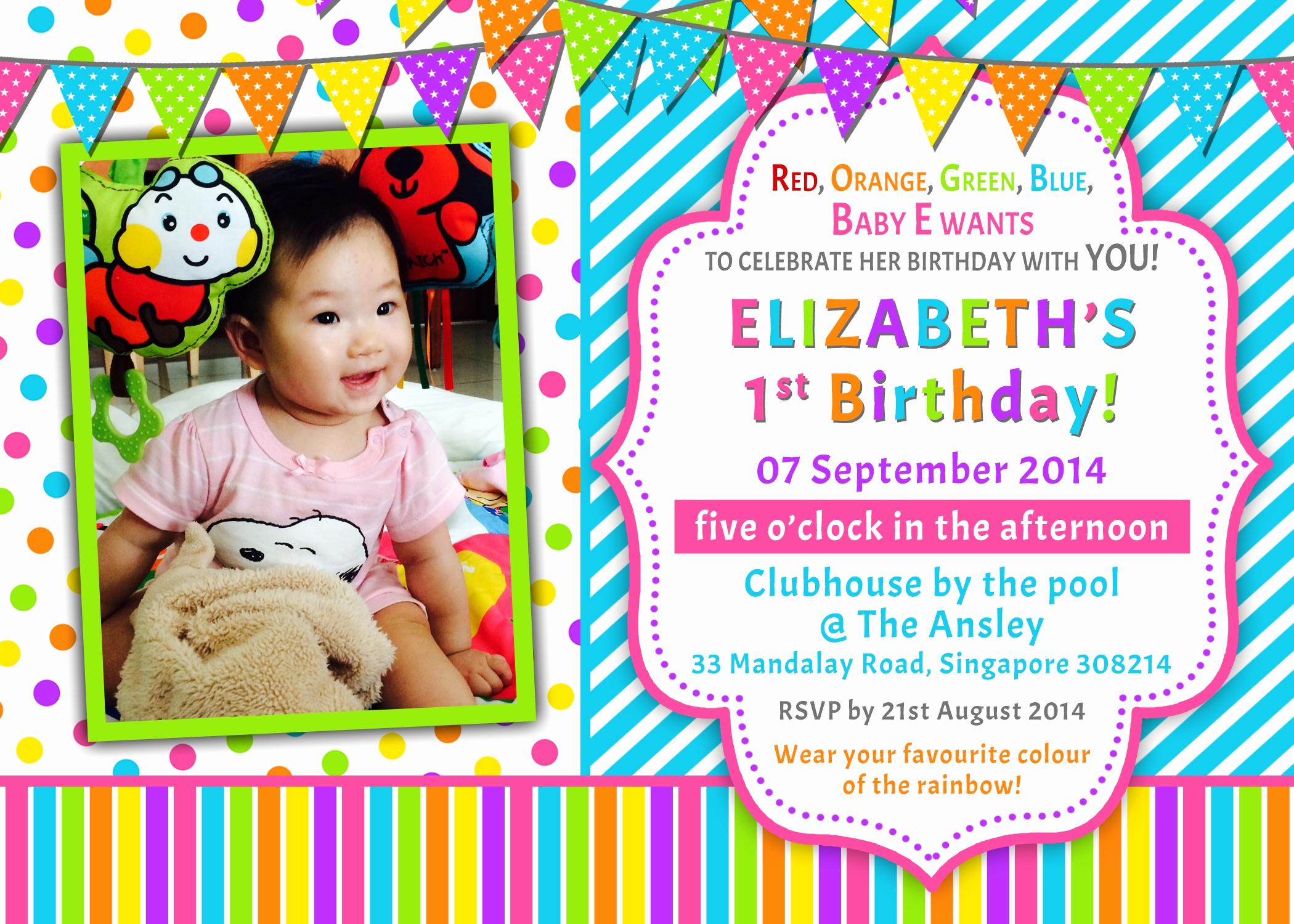 Baby 1st Birthday Invitation Lovely Preparations for Baby E's Birthday