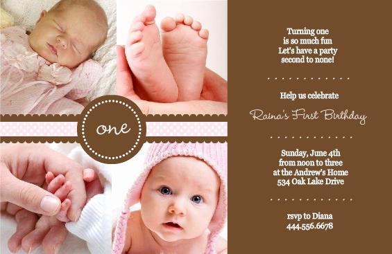 Baby 1st Birthday Invitation New 1st Birthday Invitation Wording Ideas From Purpletrail