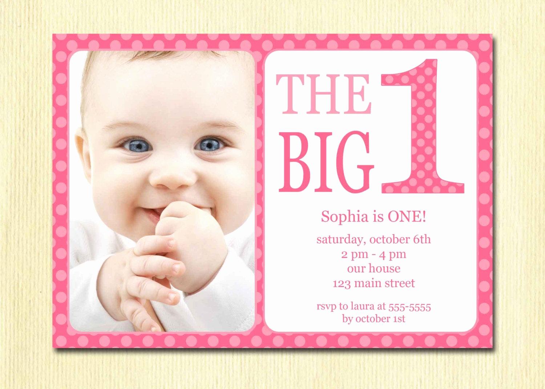 Baby 1st Birthday Invitation Unique First Birthday Baby Girl Invitation Diy Printable