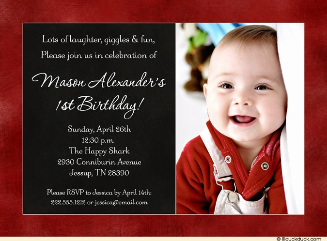 Baby Boy Birthday Invitation Awesome Baby Birthday Invitations