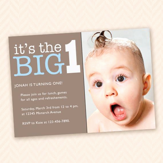 Baby Boy Birthday Invitation Awesome Custom First Birthday Party Invitation for Boy or Girl