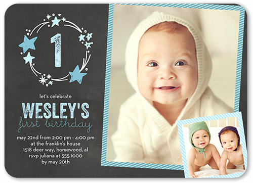 Baby Boy Birthday Invitation Beautiful Stellar Birthday Boy First Birthday Invitation