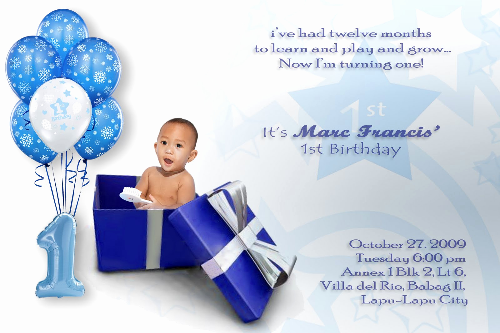 Baby Boy Birthday Invitation Fresh Baby Boy First Birthday Invitations Free Invitation
