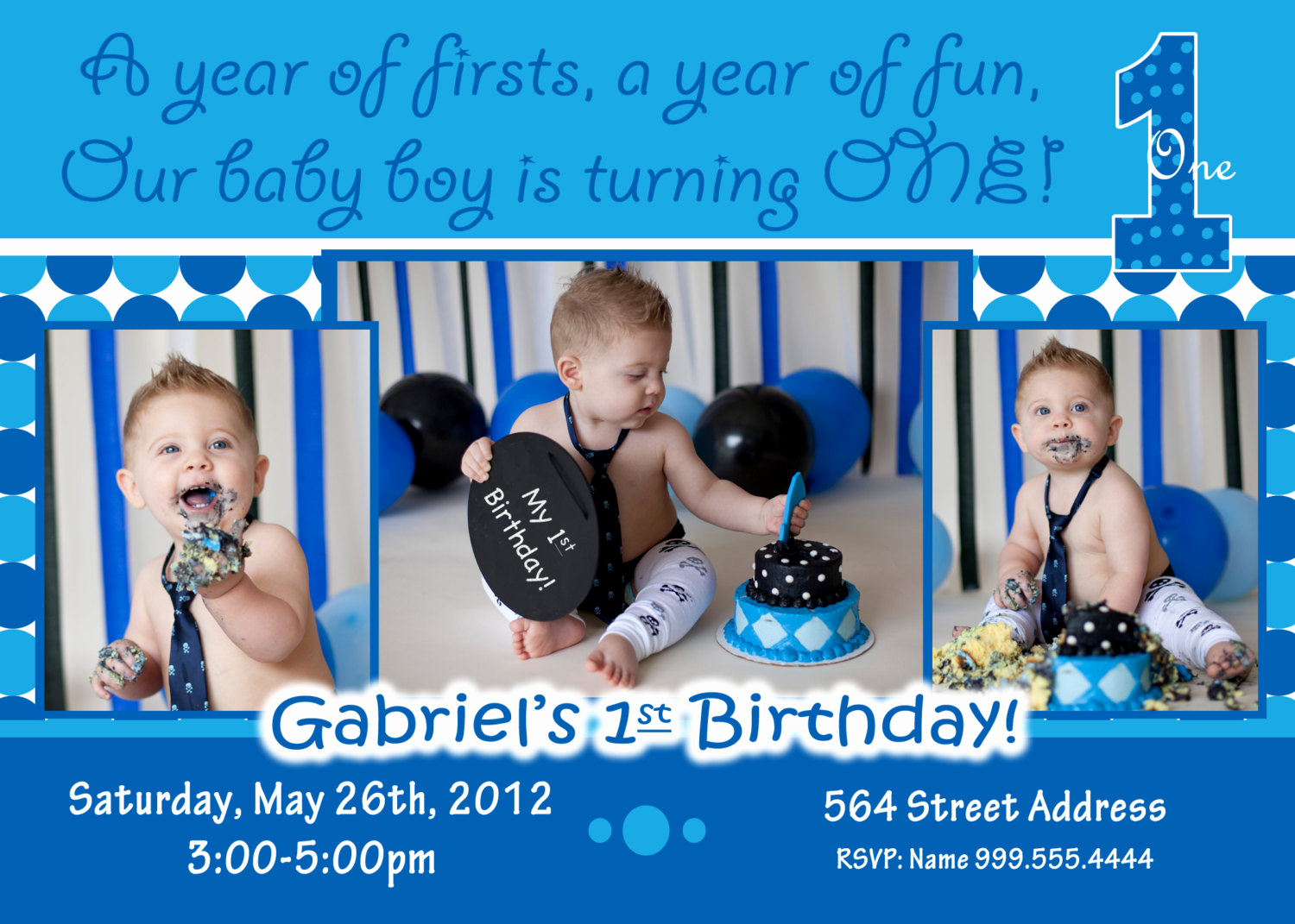 Baby Boy Birthday Invitation Inspirational Baby Boy 1st Birthday Invitations