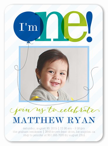 Baby Boy Birthday Invitation Inspirational Sheer E Boy First Birthday Invitation