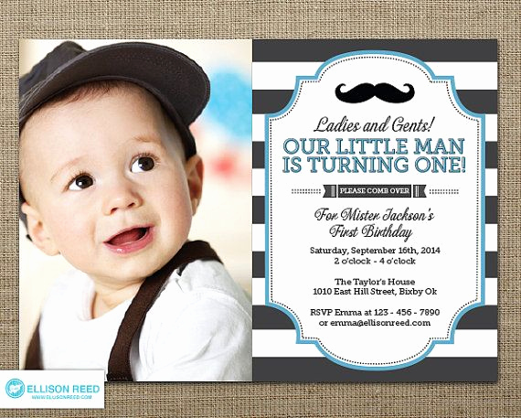 Baby Boy Birthday Invitation New Free Mustache Party Invitations