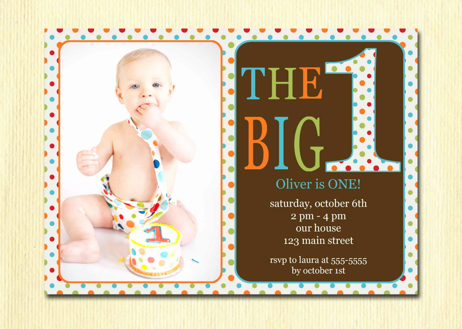 Baby Boy Birthday Invitation Unique First Birthday Baby Boy Invitation Diy by