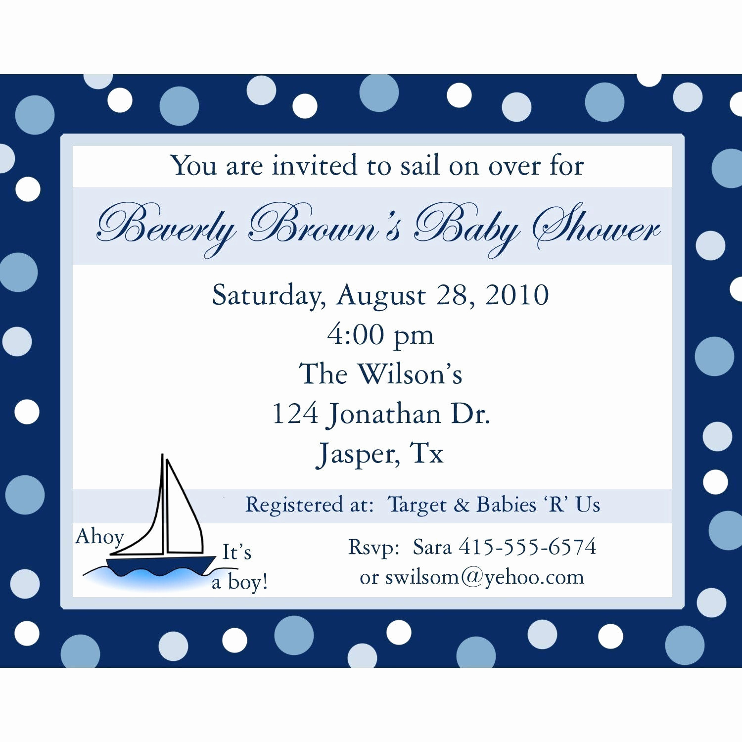 Baby Boy Invitation Ideas Awesome 20 Personalized Baby Shower Invitations Ahoy Its A Boy