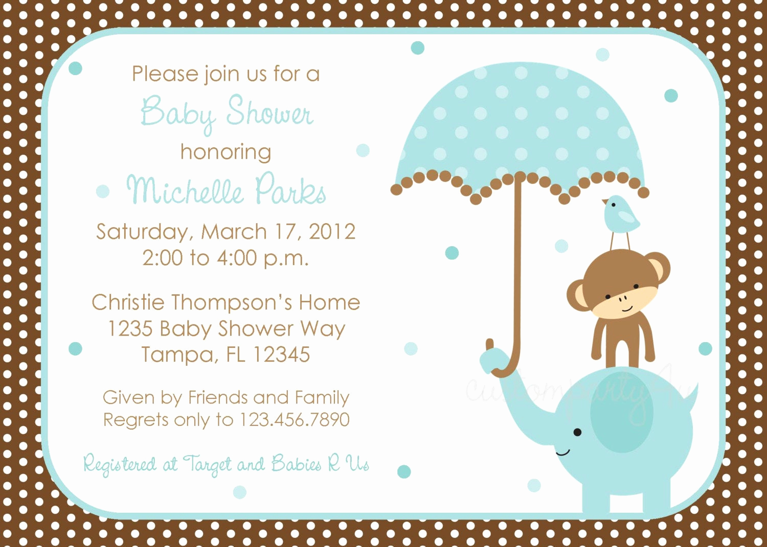 Baby Boy Invitation Ideas Best Of Polka Dot Elephant Baby Shower Invitation Boy Design