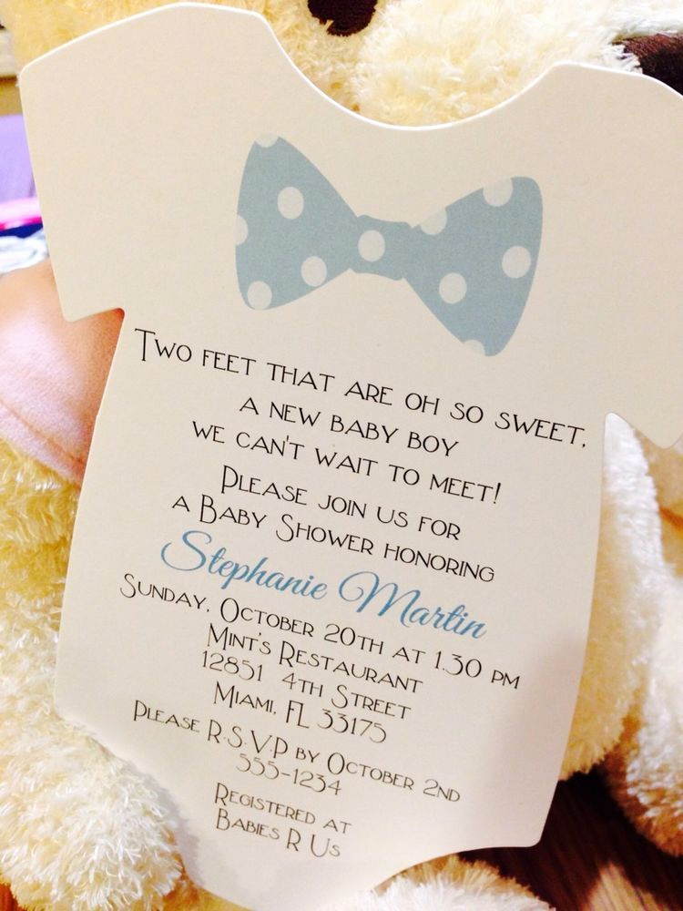 Baby Boy Invitation Ideas New Baby Boy Bow Tie Esie Baby Shower Invitation All