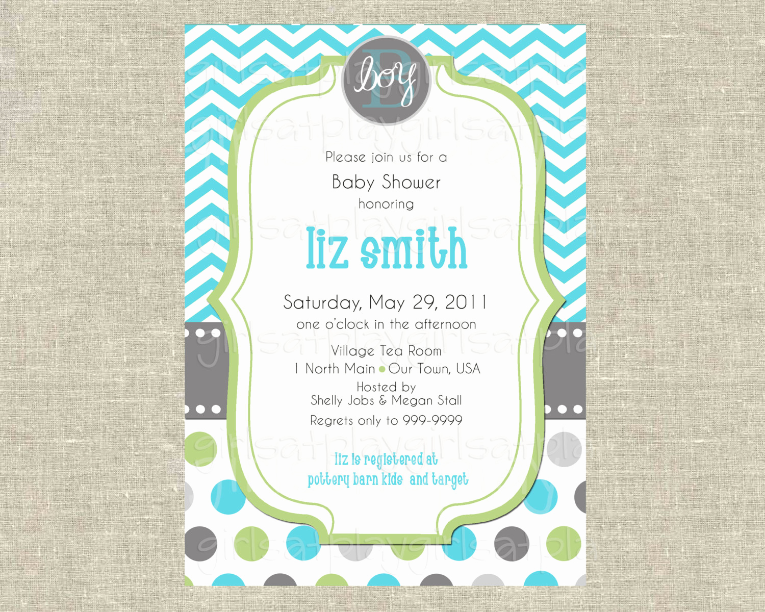 Baby Boy Invitation Ideas New Baby Boy Shower Invitation Invite Modern Chevron by