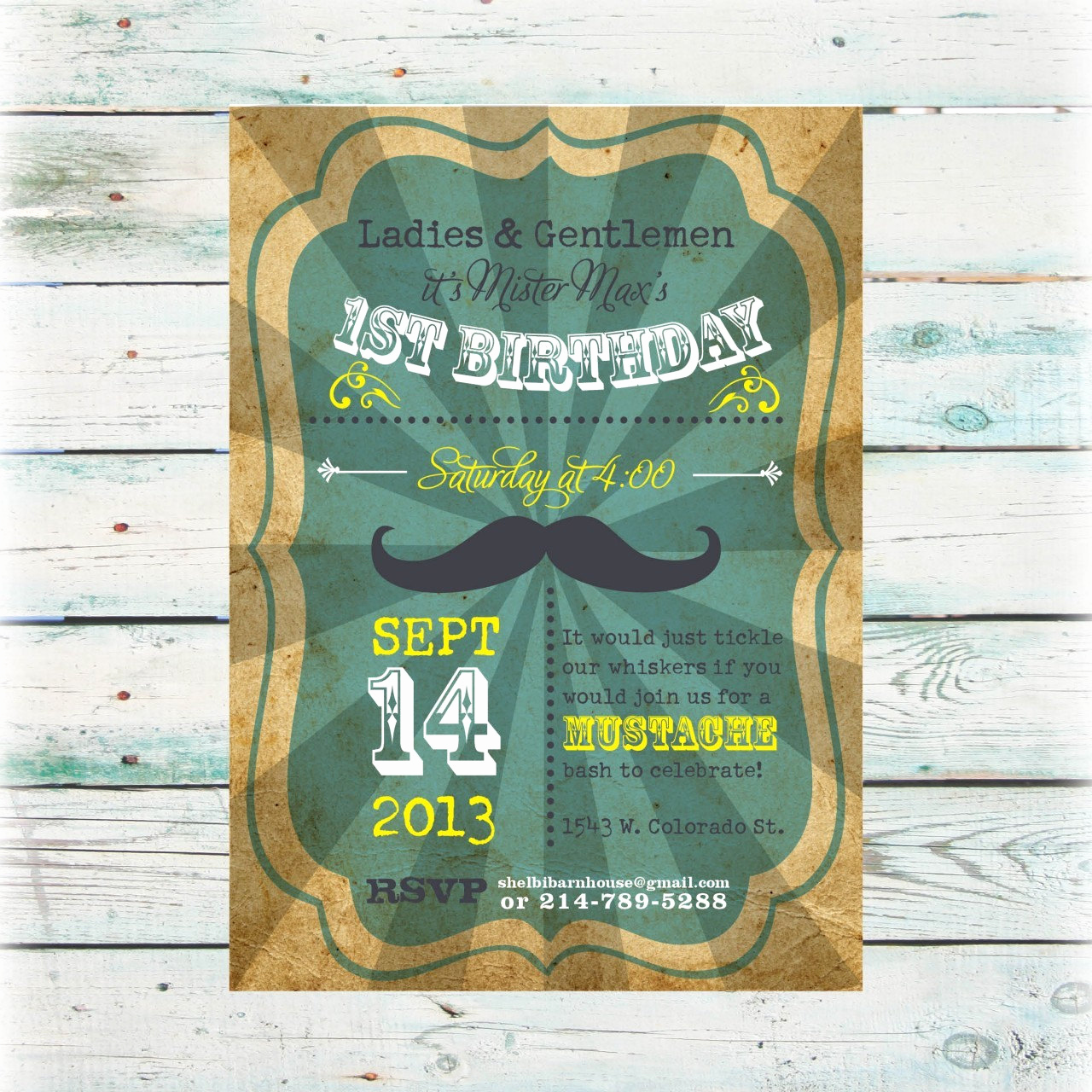 Baby Boy Invitation Ideas New Printable Mustache theme Birthday Boy Birthday Invite