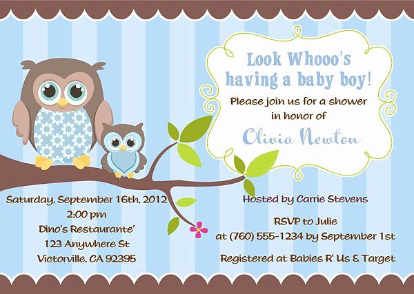 Baby Boy Shower Invitation Ideas Elegant $1 Owl Boy Baby Shower Invitations Owl Baby Shower Boy