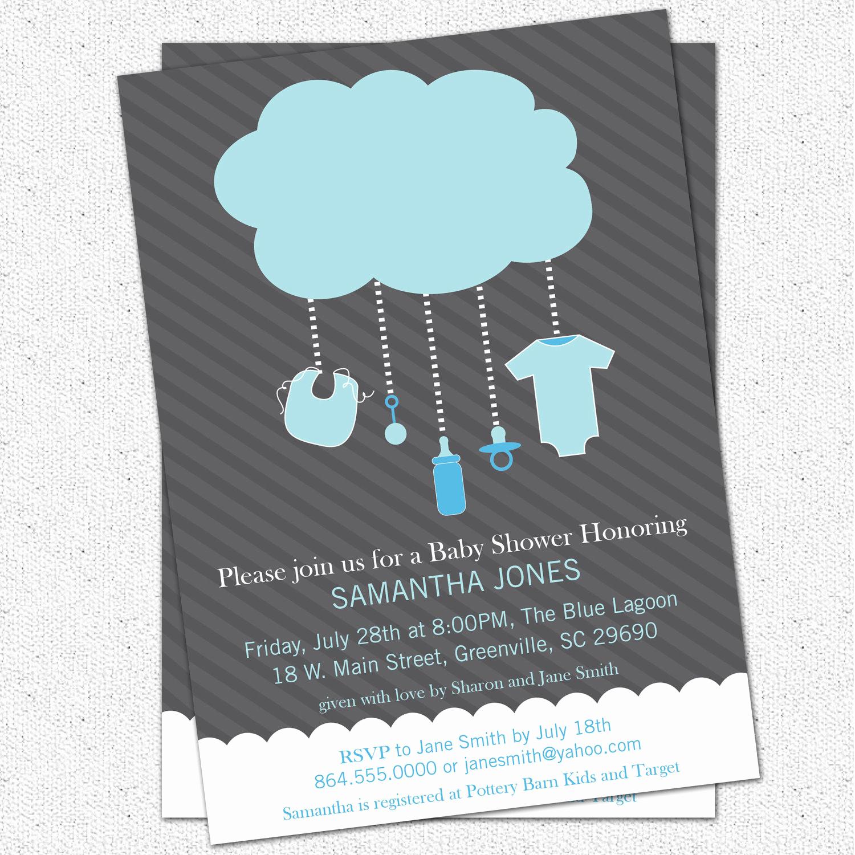 Baby Boy Shower Invitation Ideas Elegant Popular Items for Rain Image