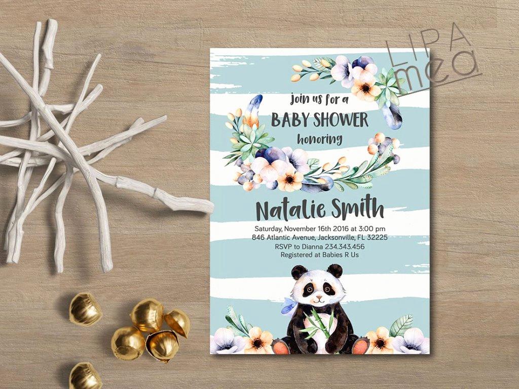 Baby Boy Shower Invitation Ideas Inspirational Panda Baby Shower Ideas Baby Ideas