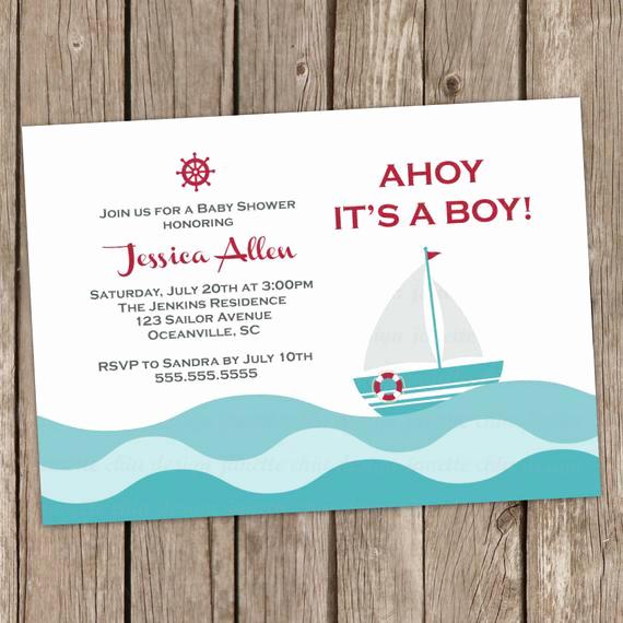 Baby Boy Shower Invitation Wording Best Of Items Similar to Sailor Boy Baby Shower Invitation Digital