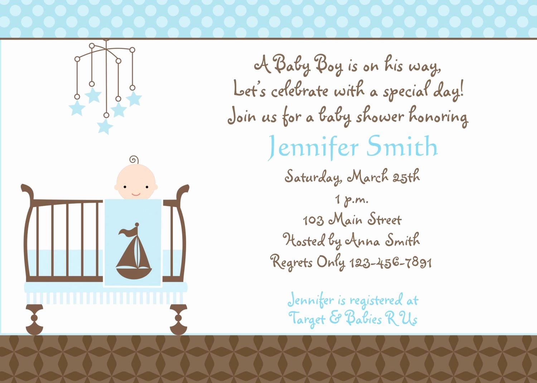 Baby Boy Shower Invitation Wording Elegant Baby Shower Invitation Templates Baby Shower Invitation