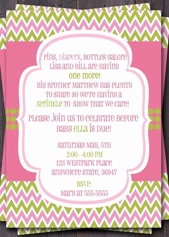 Baby Boy Shower Invitation Wording Elegant Items Similar to Baby Sprinkle Baby Shower or Sip N See