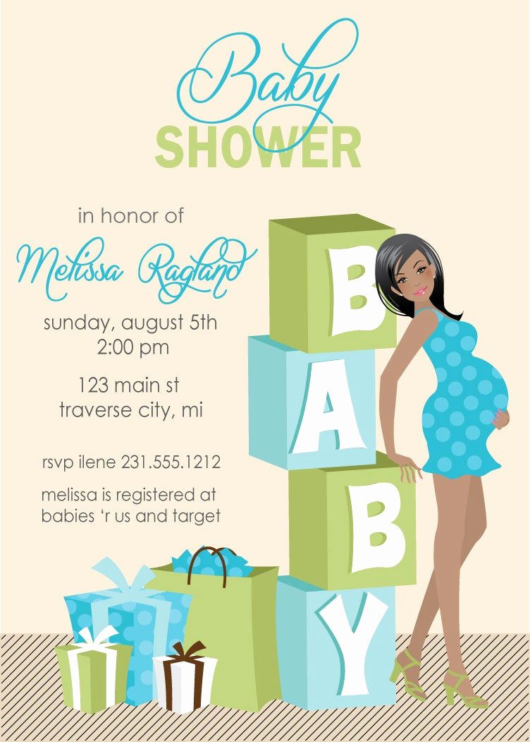 Baby Boy Shower Invitation Wording Luxury Blocks Baby Shower Invitations Boy Baby by Announceitfavors