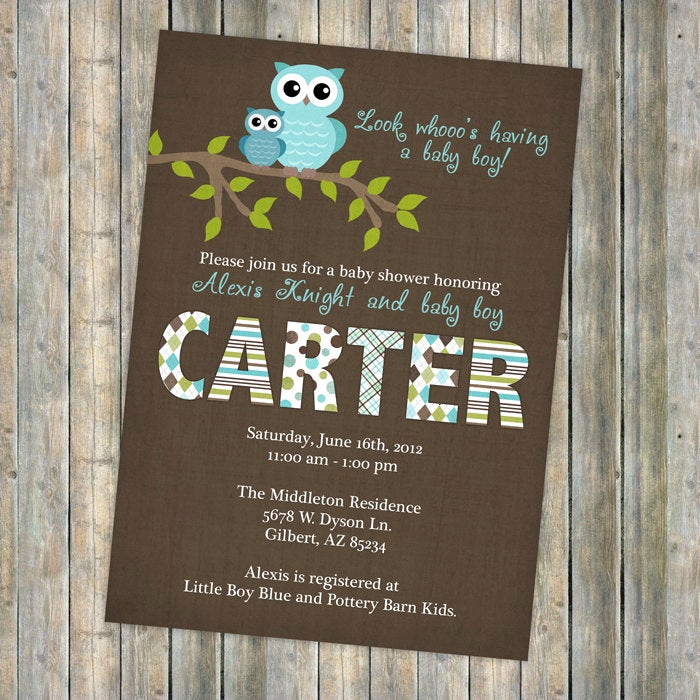 Baby Boy Shower Invitation Wording New Baby Boy Shower Invitations Shower Invitation with Owls
