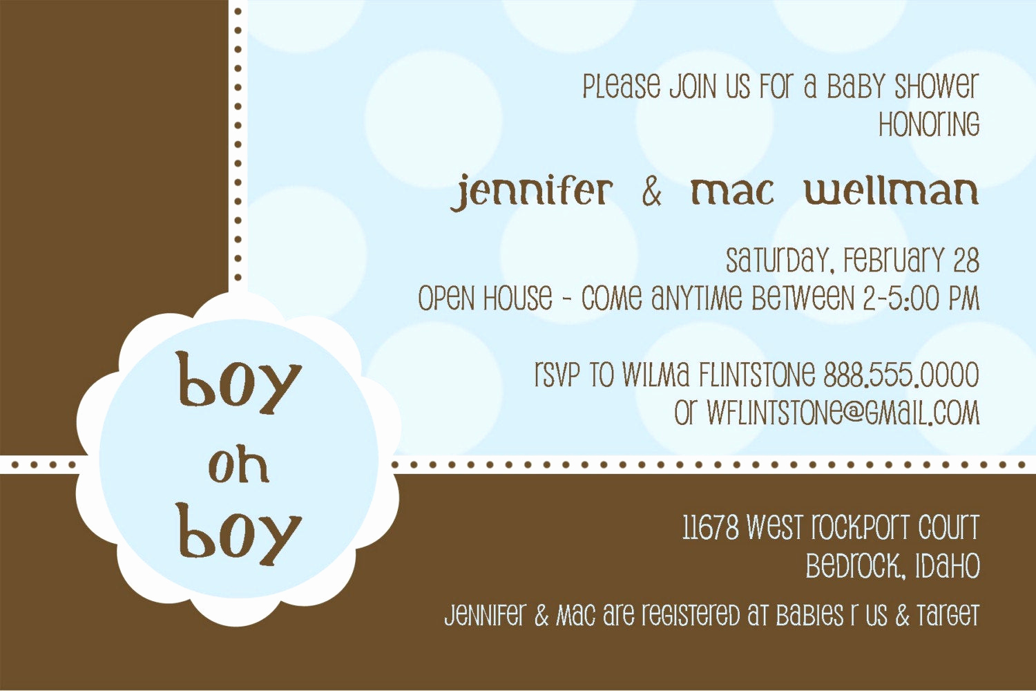 Baby Boy Shower Invitation Wording Unique Boy Oh Boy Baby Shower Invitations