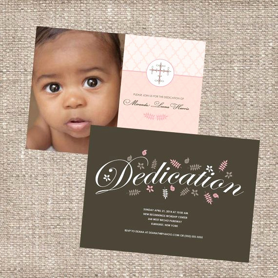 Baby Dedication Invitation Template Best Of Christian Baby Dedication Christening Invitation