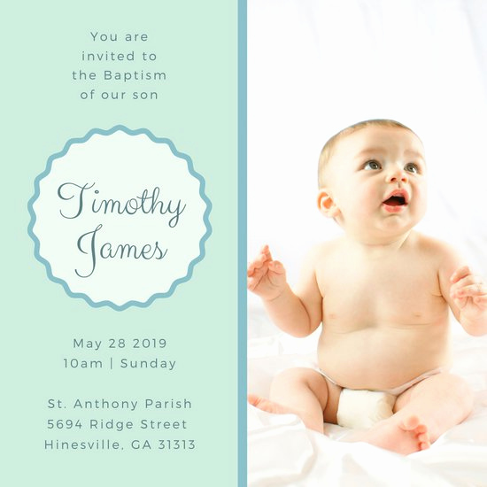 Baby Dedication Invitation Template Elegant Customize 112 Christening Invitation Templates Online Canva