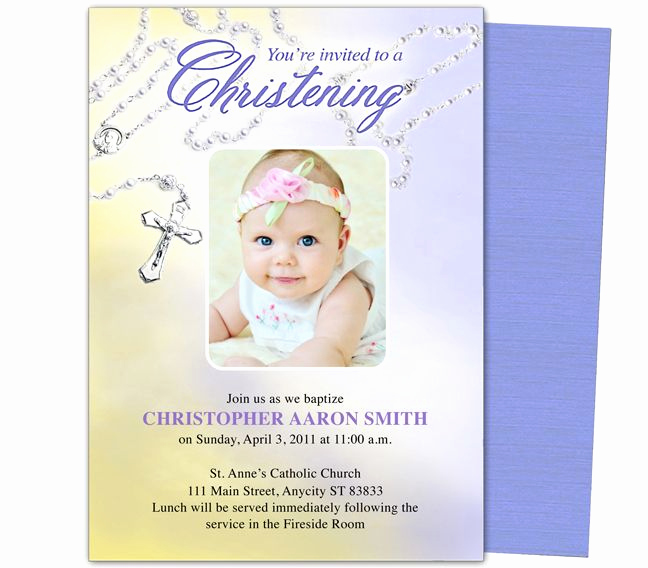 Baby Dedication Invitation Template Inspirational Baby Baptism Christening Templates Beads Baby Baptism