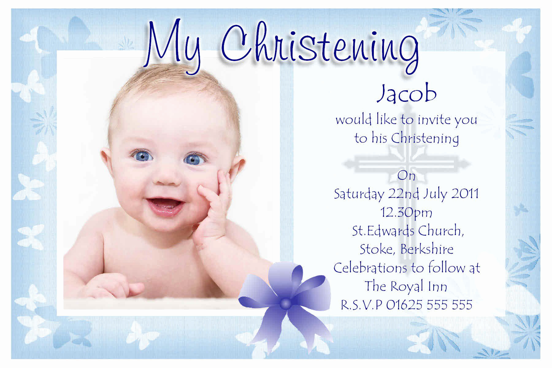 Baby Dedication Invitation Template Lovely Baptism Invitation Baptism Invitations for Boys New