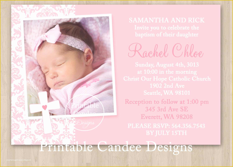 Baby Dedication Invitation Template Luxury 1 Printable Baptism Invitation Templates Baby Dedication