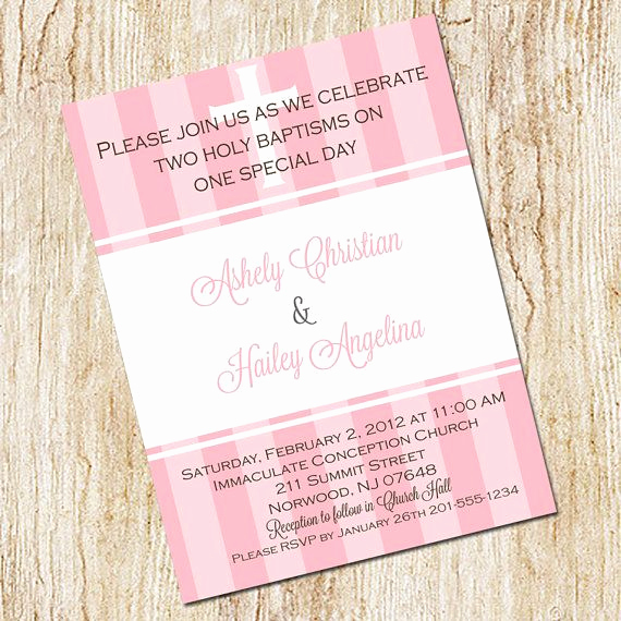 Baby Dedication Invitation Wording Awesome Twin Baptism Invitation Digital File Christening Baby