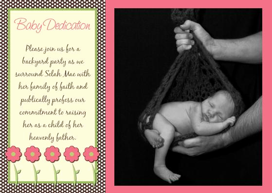 Baby Dedication Invitation Wording Best Of Dedicated to Christ