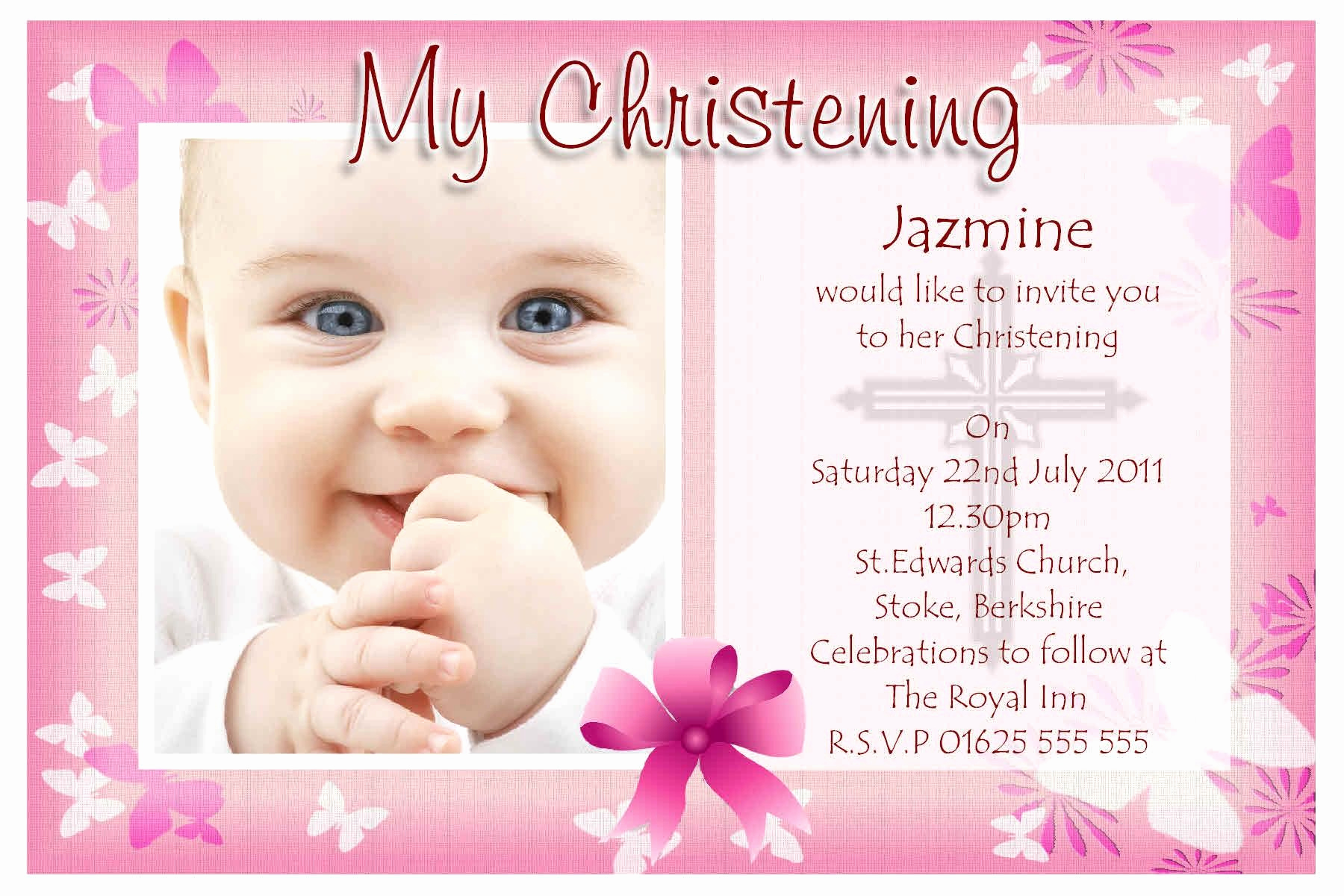 Baby Dedication Invitation Wording Best Of Free Baptism Invitation Templates Printable