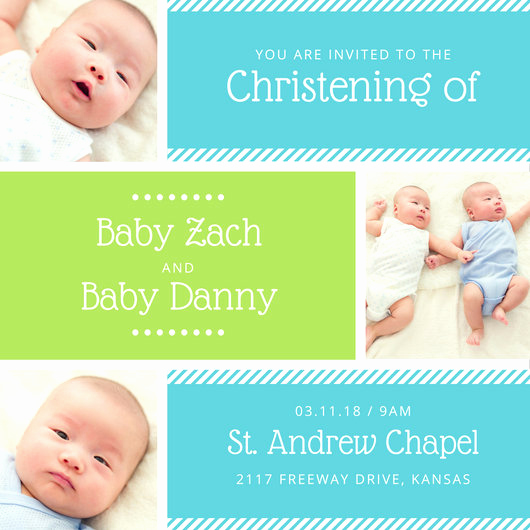 Baby Dedication Invitation Wording Lovely Customize 149 Christening Invitation Templates Online Canva