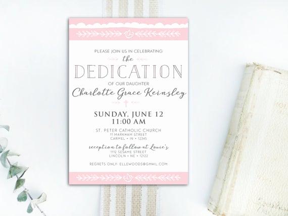 Baby Dedication Invitation Wording Luxury Instant Download Dedication Invitation Baby Dedication