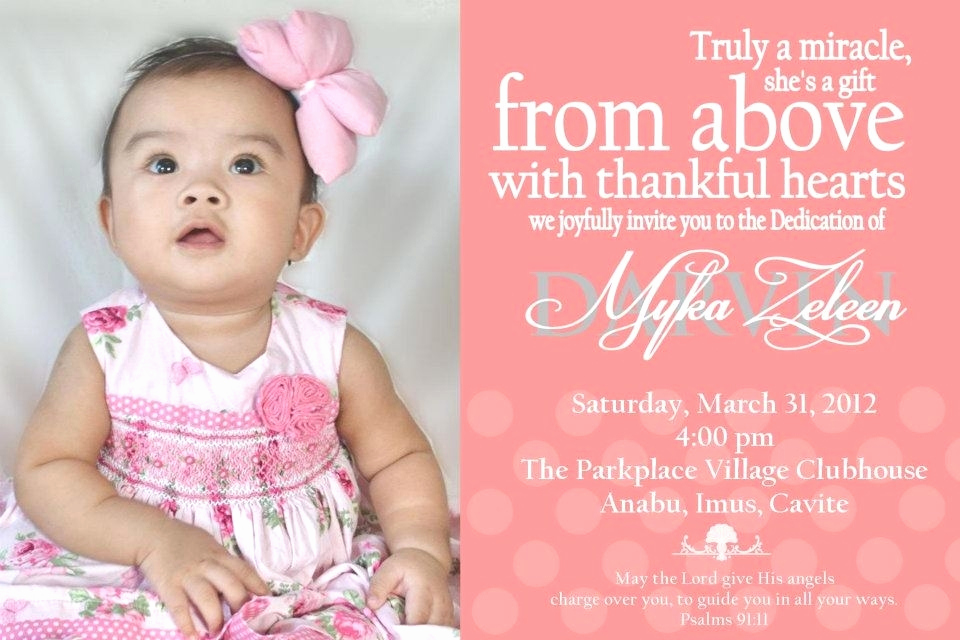 Baby Dedication Invitation Wording New Baby Dedication Invitation Template Cobypic
