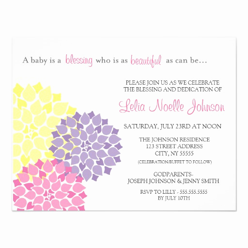 Baby Dedication Invitation Wording New Personalized Dedication Invitations