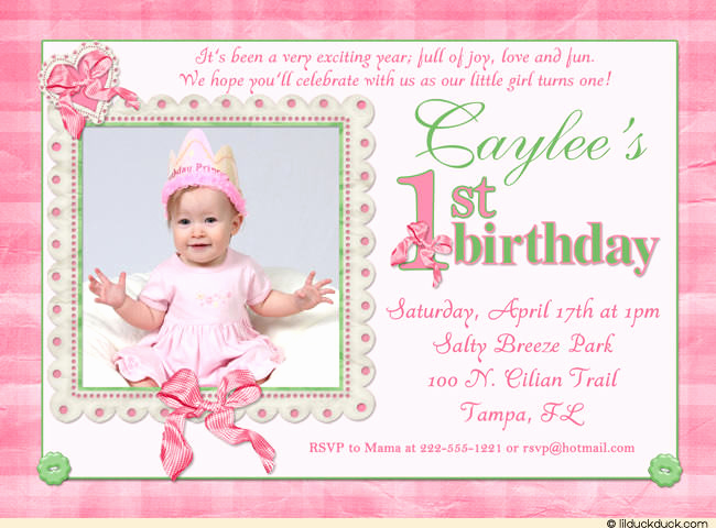 Baby Girl First Birthday Invitation Beautiful 1st Birthday Invitation Wording – Bagvania Free Printable