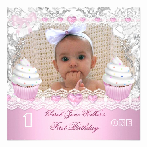 Baby Girl First Birthday Invitation Beautiful Baby First Birthday Invitations Wording