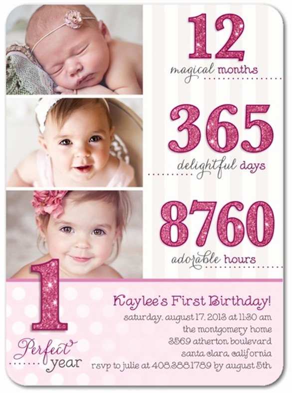 Baby Girl First Birthday Invitation Elegant 33 Kids Birthday Invitation Templates Psd Vector Eps