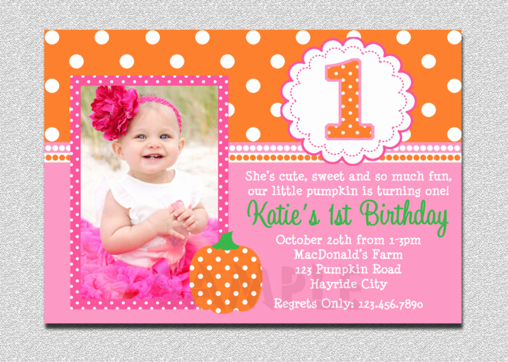 Baby Girl First Birthday Invitation Elegant Birthday Invitations for Baby Girl 1st Birthday