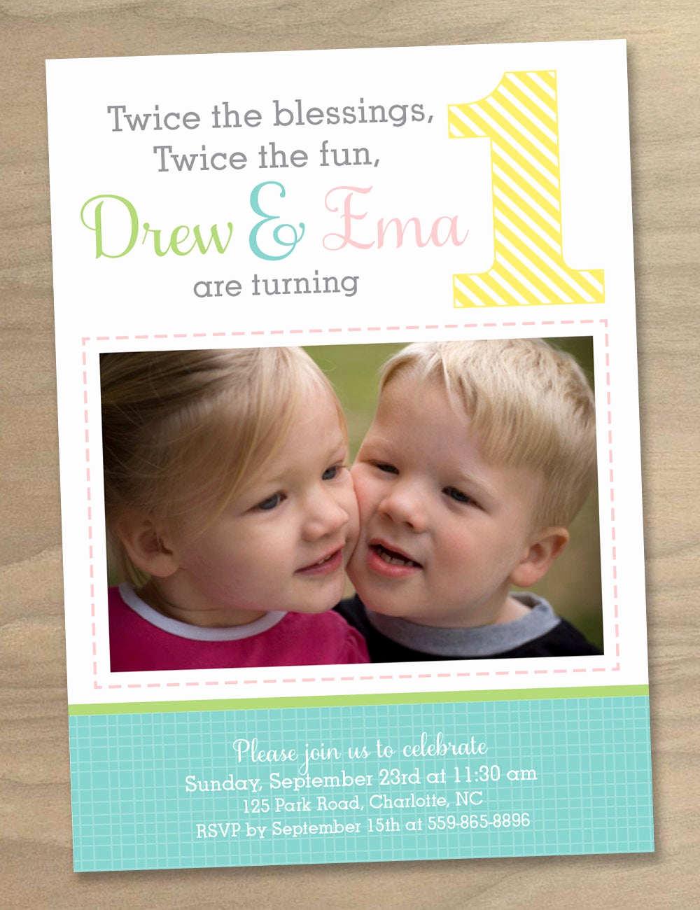 Baby Girl First Birthday Invitation Inspirational Baby Girl and Boy Twins First 1st Birthday Invitation