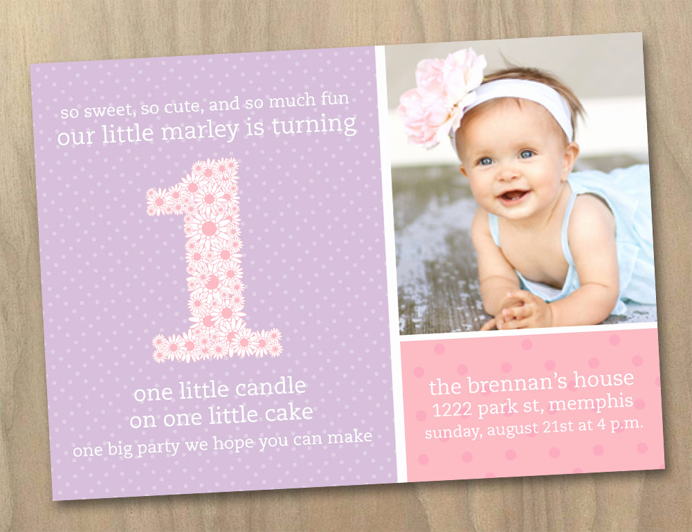Baby Girl First Birthday Invitation Inspirational Quotes for Baby Girl First Birthday Quotesgram