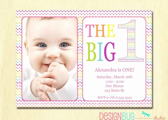 Baby Girl First Birthday Invitation Luxury Rainbow First Birthday Invitation Baby Girl Diy