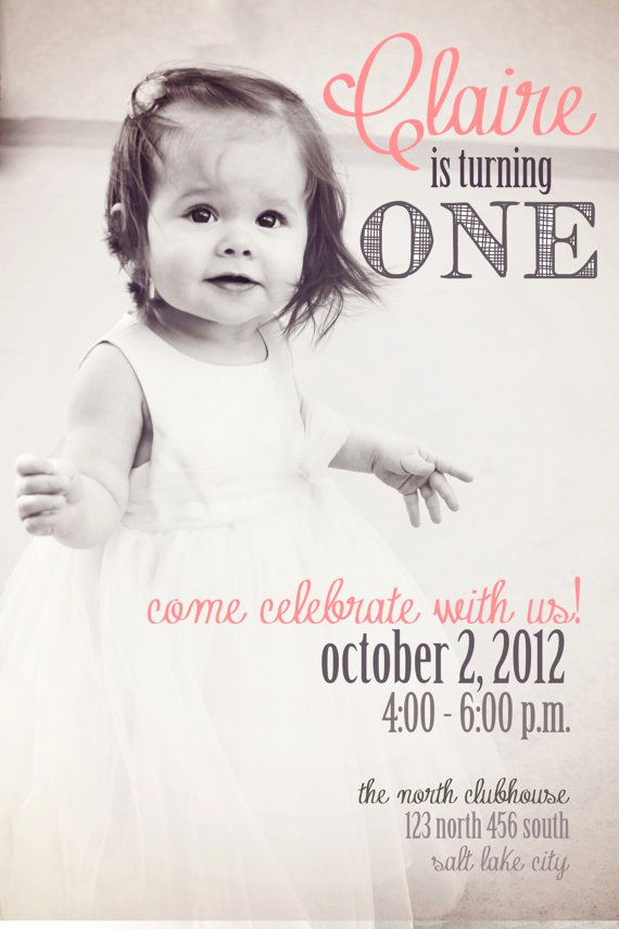 Baby Girl First Birthday Invitation New 25 Best Ideas About Baby Girl Birthday On Pinterest