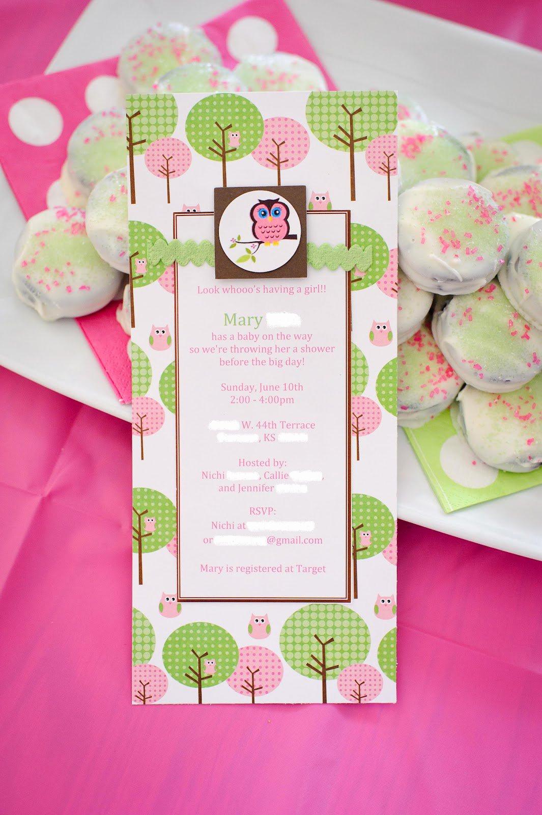 Baby Girl Shower Invitation Ideas Best Of Baby Girl Owl Invitations