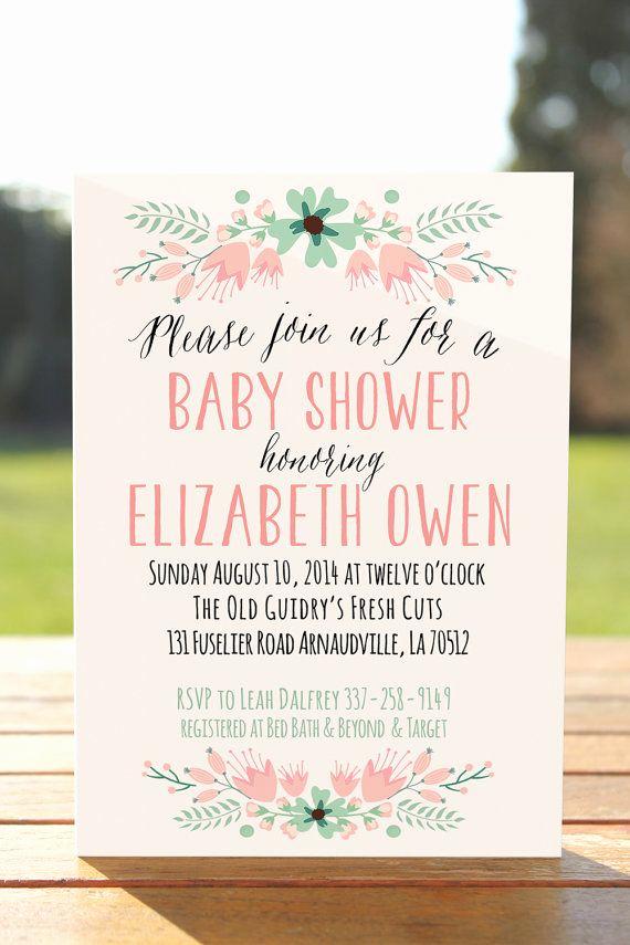 Baby Girl Shower Invitation Ideas Lovely 25 Best Ideas About Baby Shower Invitations On Pinterest